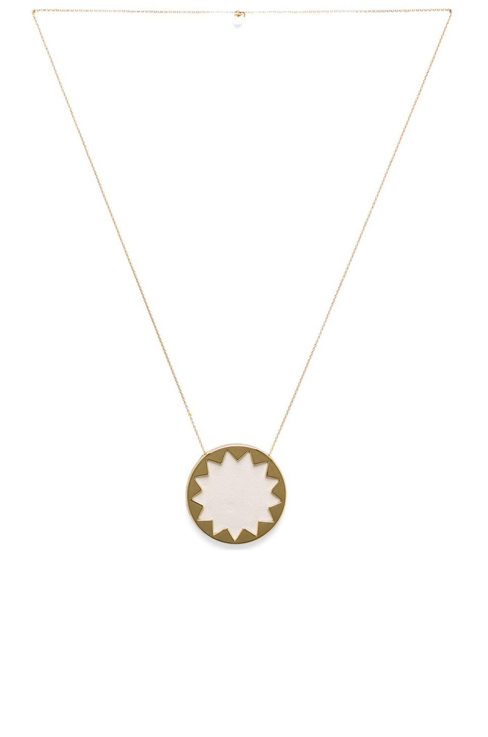 House of Harlow 1960 House of Harlow Sunburst Pendant Necklace in White