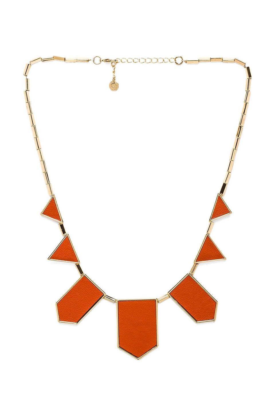 House of Harlow 1960 House of Harlow Classic Station Necklace in Coral