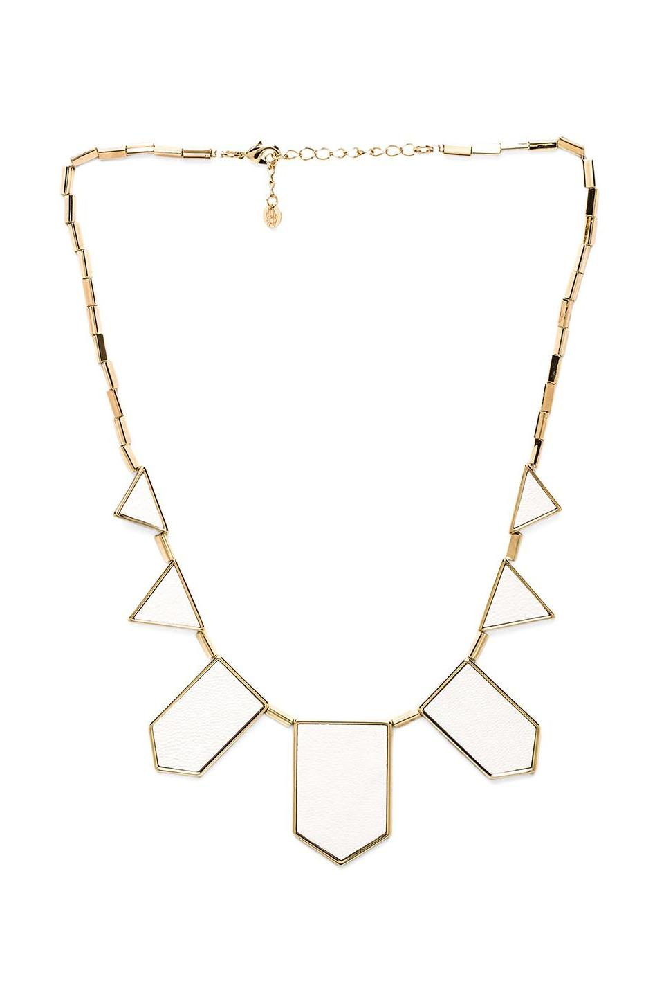 House of Harlow 1960 House of Harlow Classic Station Necklace in White