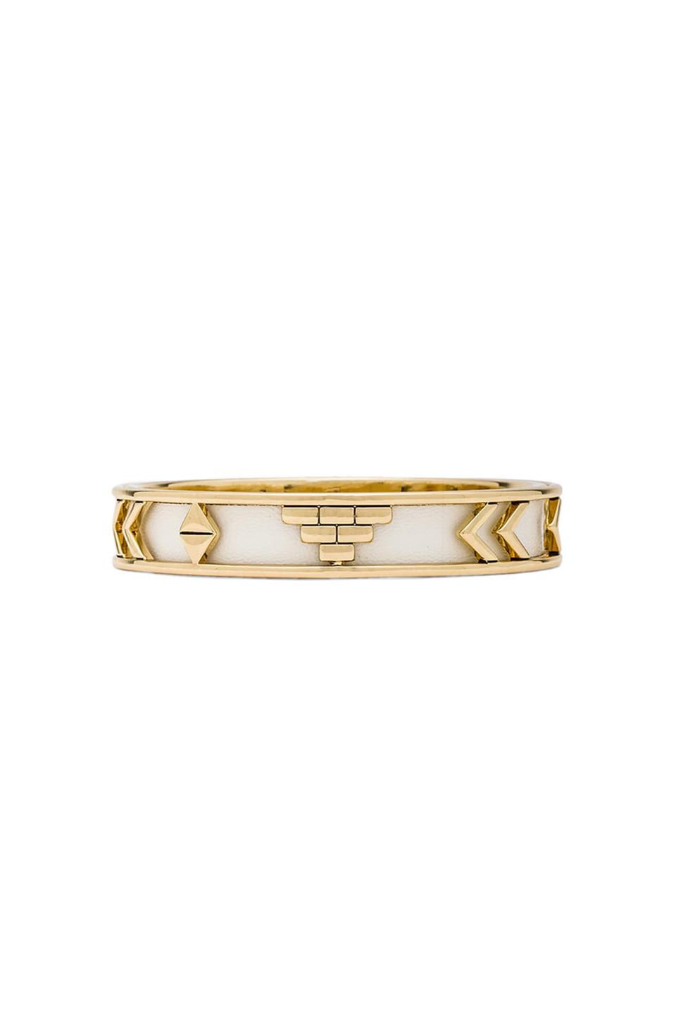 House of Harlow Aztec Bangle in White
