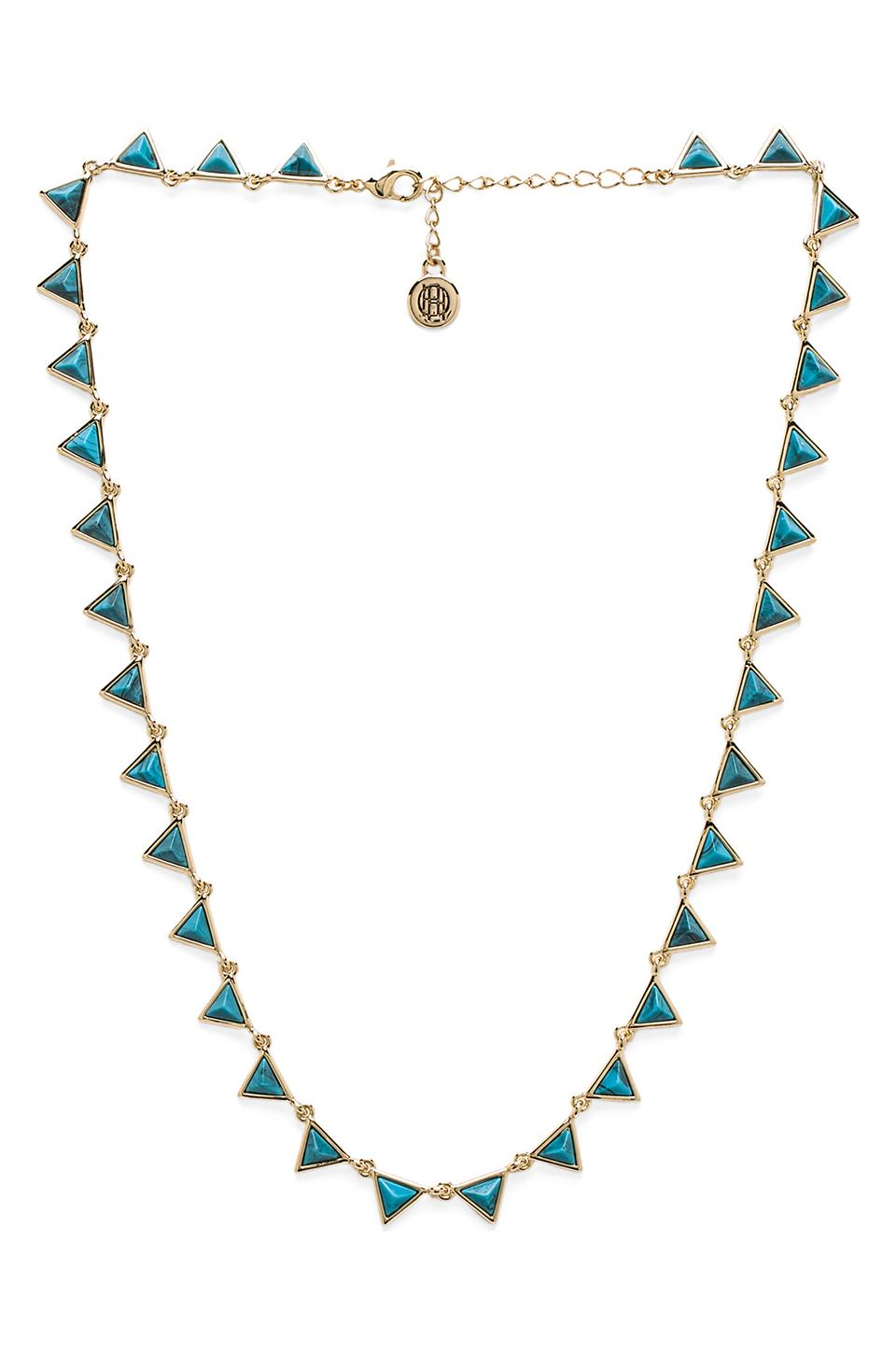 House of Harlow 1960 House of Harlow Floating Meteora Collar Necklace in Gold/Blue