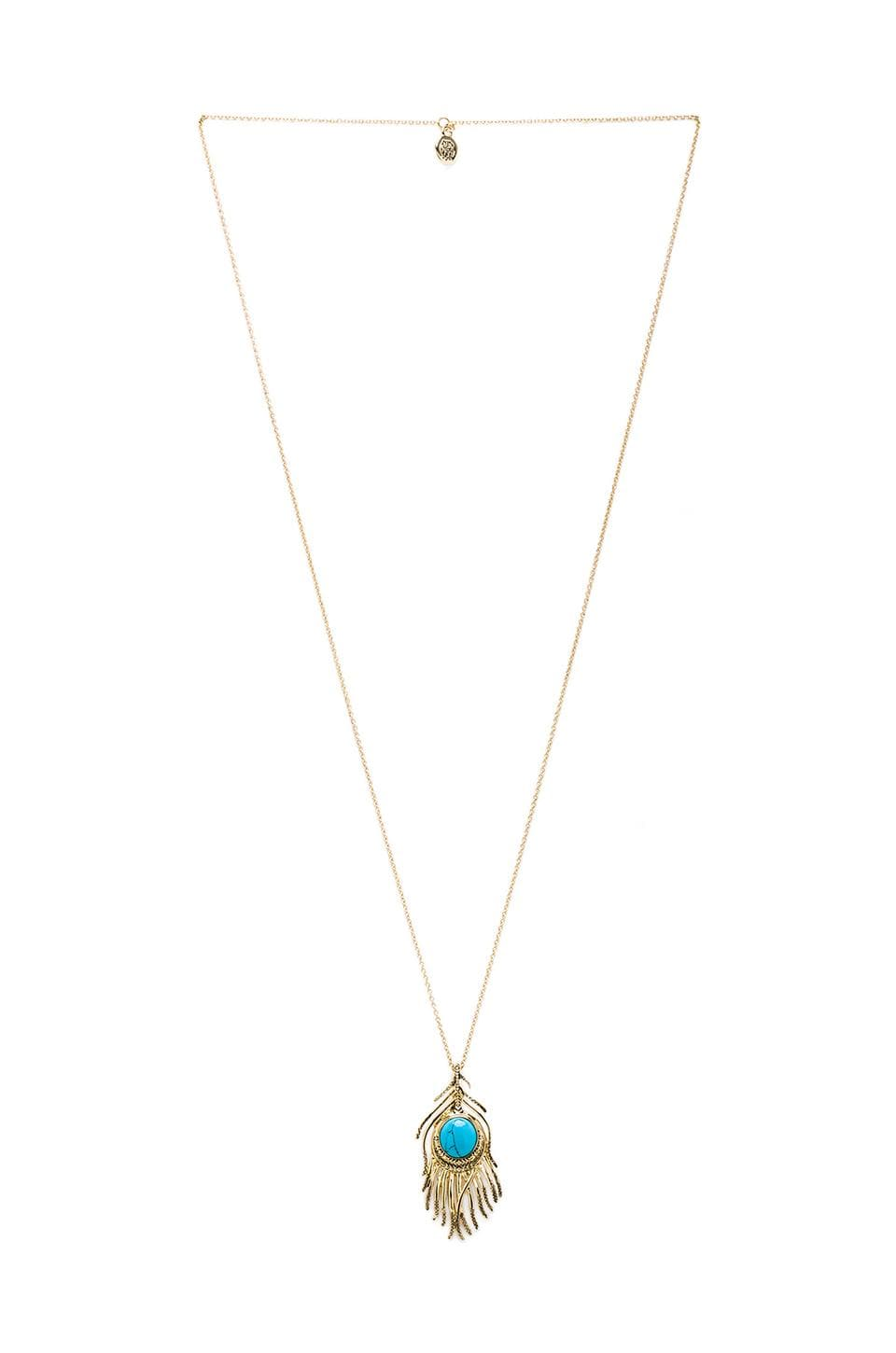 House of Harlow 1960 House of Harlow Eye of Wisdom Pendant necklace in Gold Turquoise