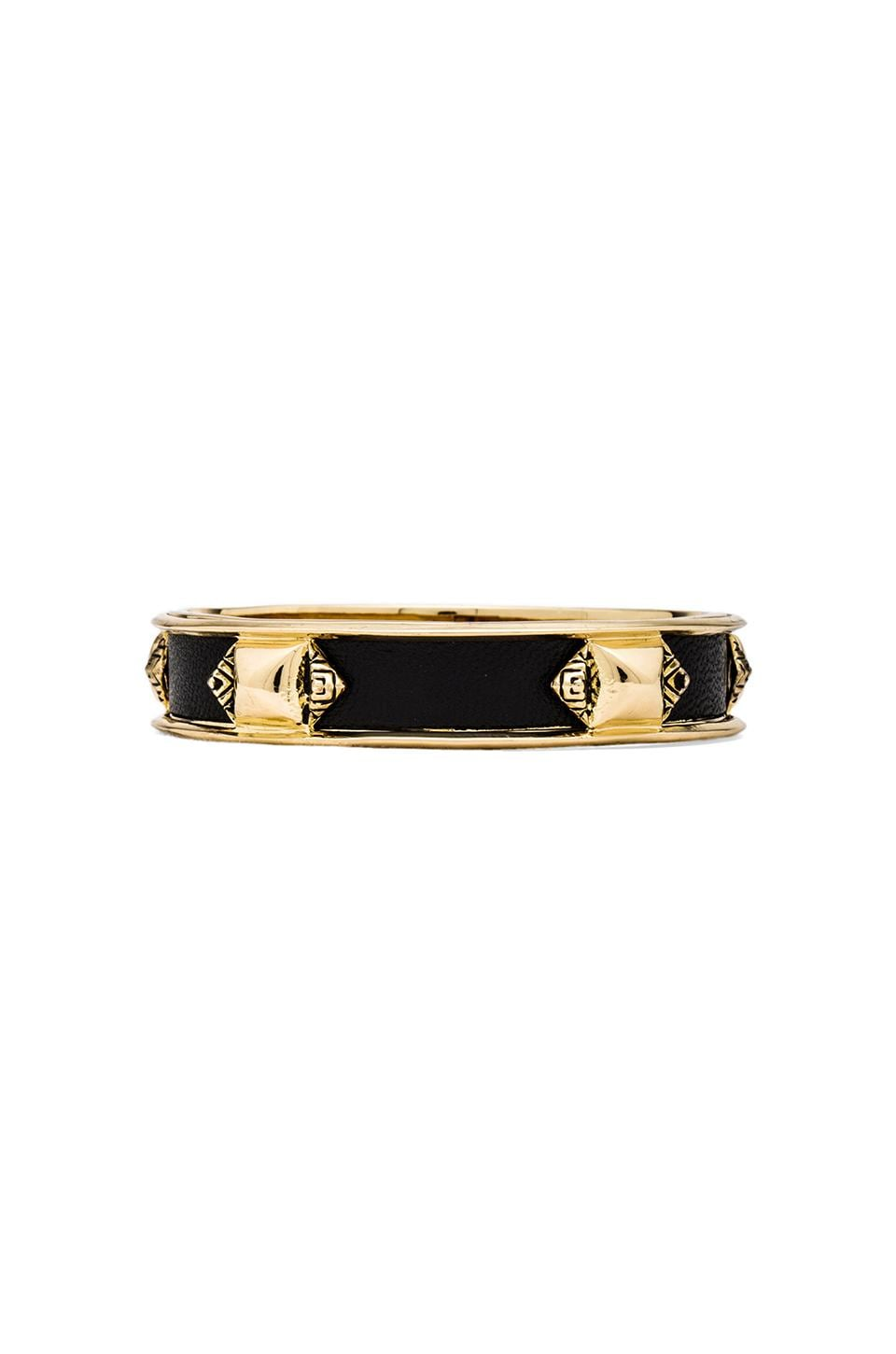 House of Harlow 1960 House of Harlow Pura Temple Bracelet in Gold/Black