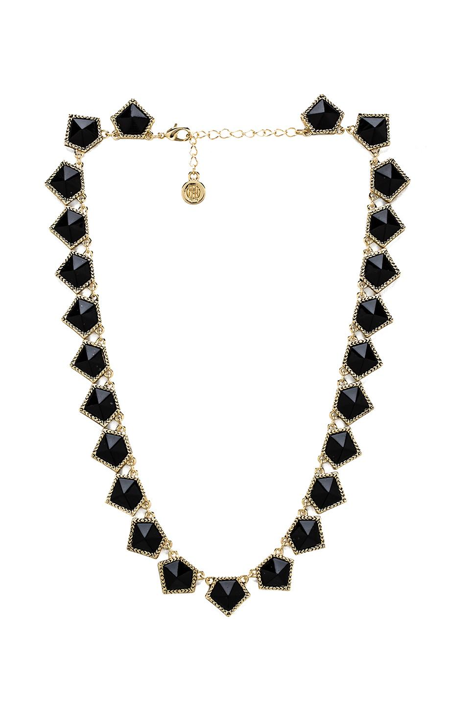 House of Harlow 1960 House of Harlow Jewels of Java Necklace in Gold/Black