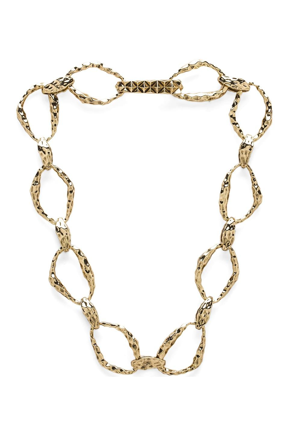 House of Harlow 1960 House of Harlow Textured Link Necklace in Gold