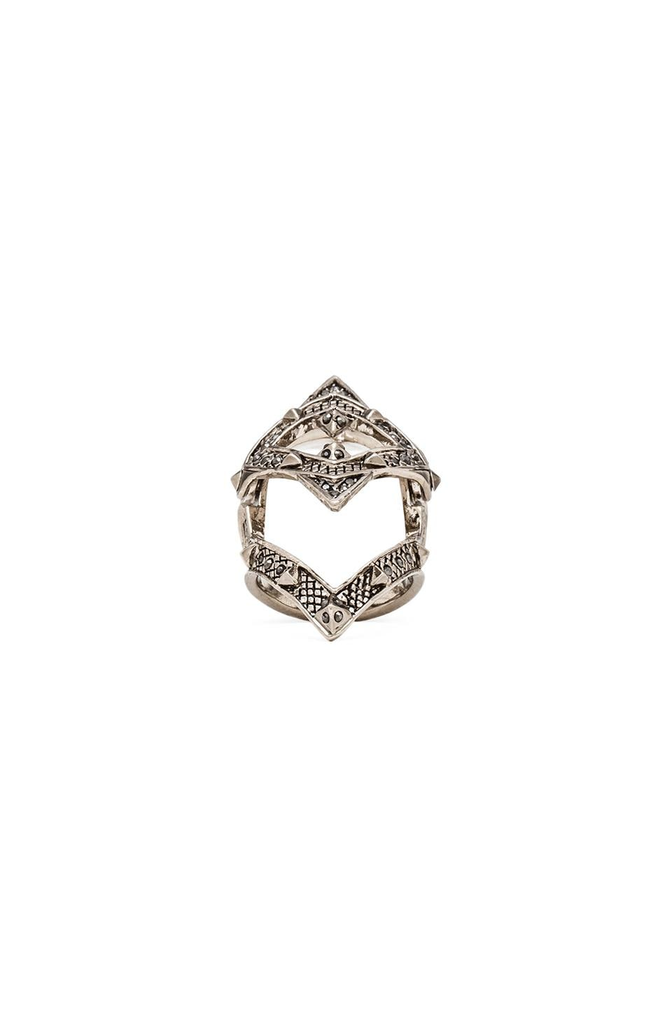 House of Harlow 1960 House of Harlow Pave Jaws Finger Ring in Silver