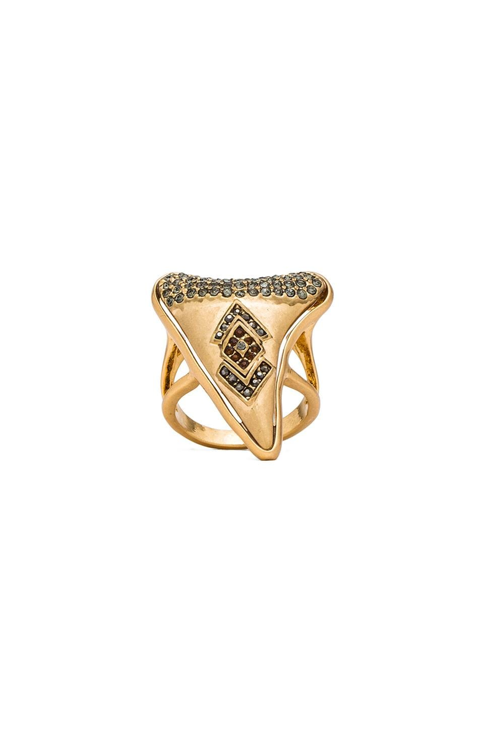 House of Harlow Tribal Tooth Cocktail Ring in Gold