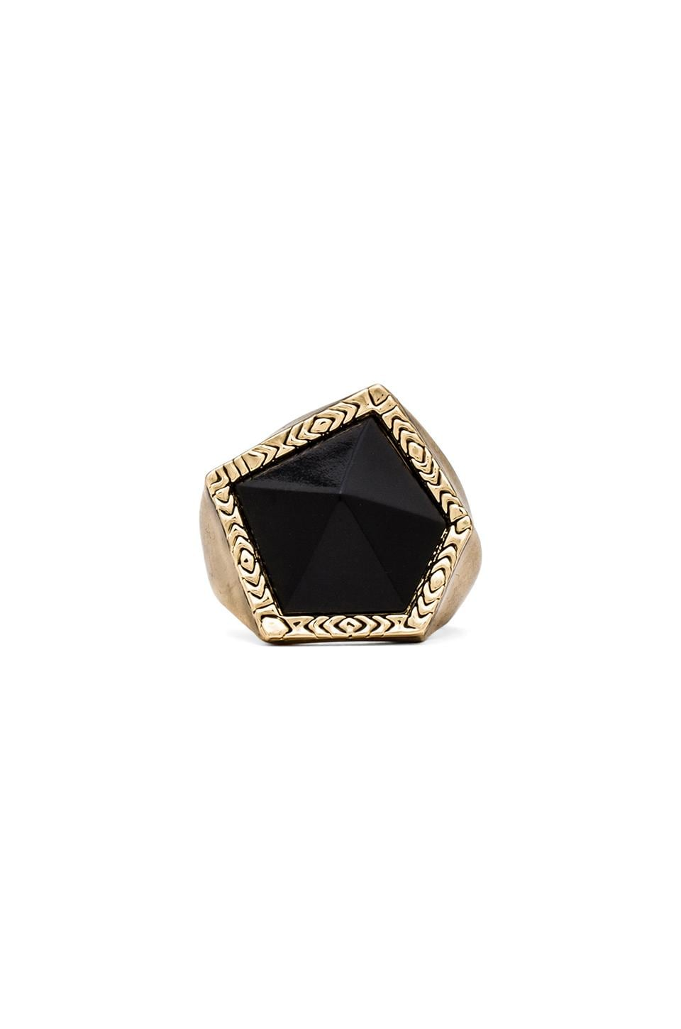 House of Harlow Jewels of Java Cocktail Ring in Gold/Black