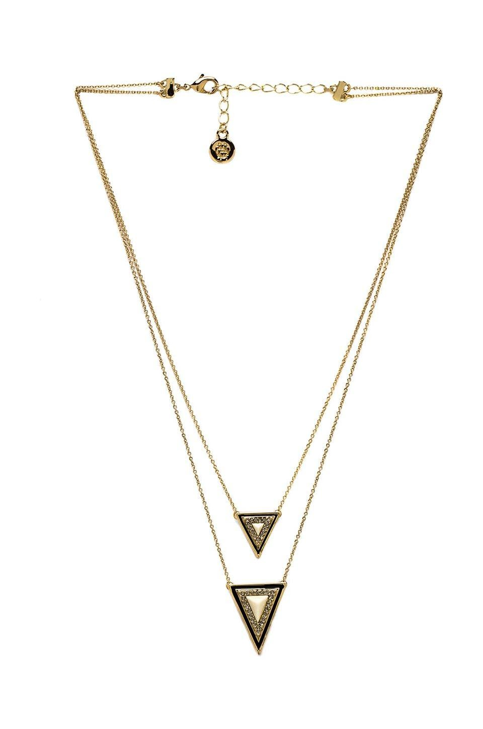 House of Harlow 1960 House of Harlow Teepee Triangle Necklace in Gold & Ivory