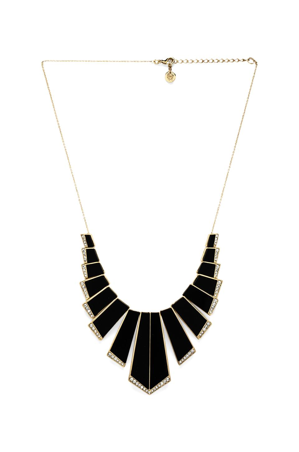 House of Harlow 1960 House of Harlow Nouveau Necklace in Gold & Black