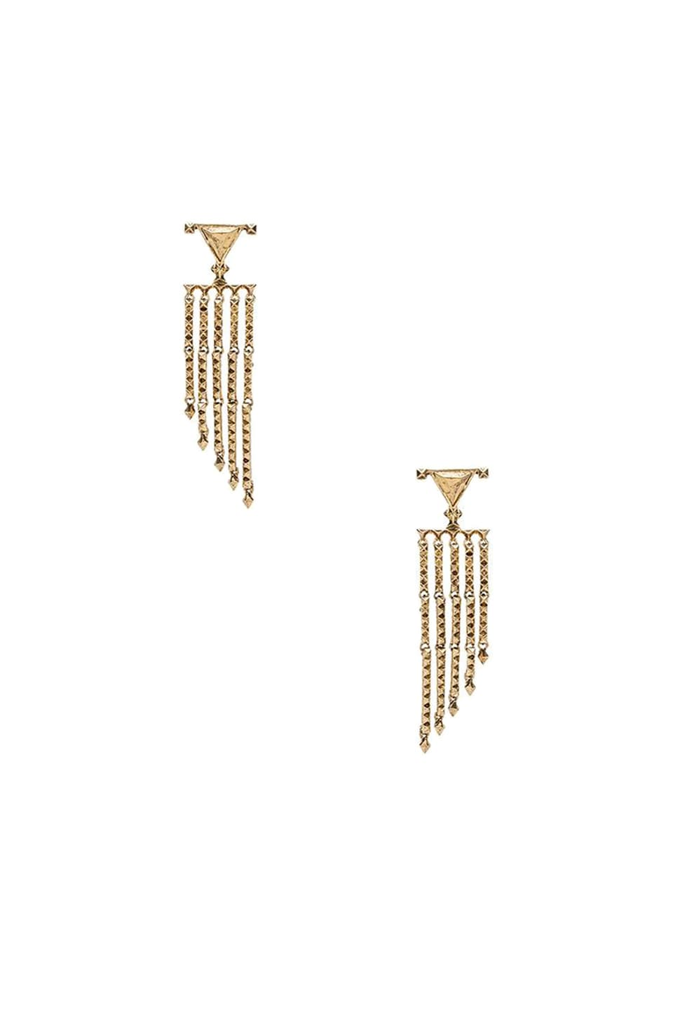 House of Harlow 1960 House of Harlow Tres Tri Fringe Earring in Gold