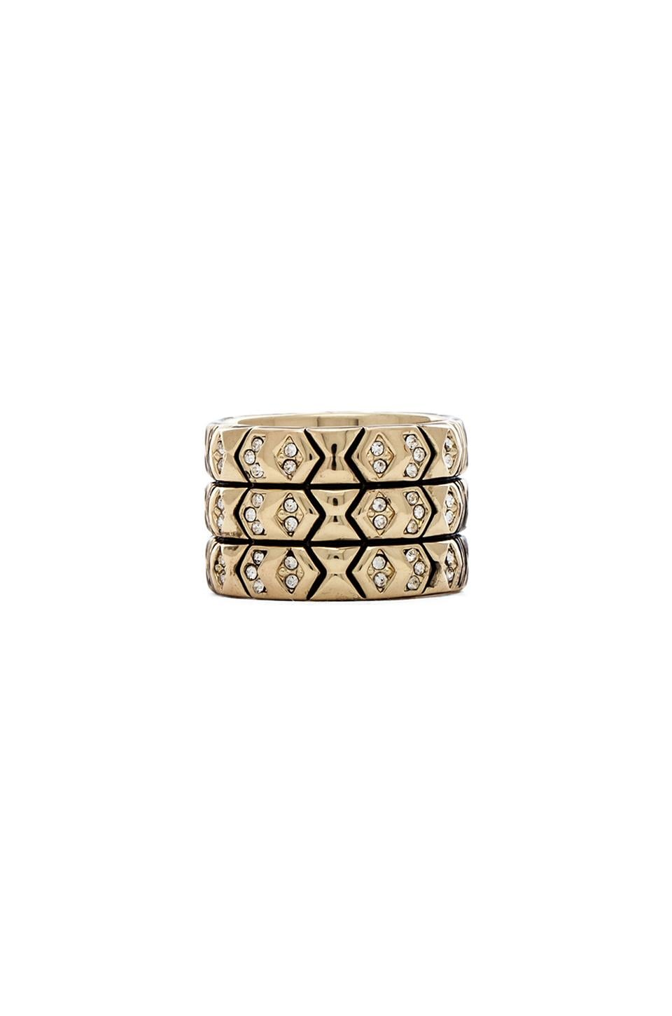 House of Harlow 1960 House of Harlow Echo Crest Ring in Gold