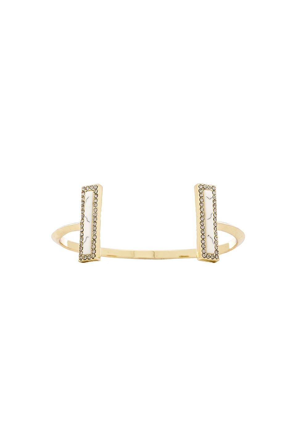House of Harlow 1960 House of Harlow Illuminating Rectangle Cuff in Howlite