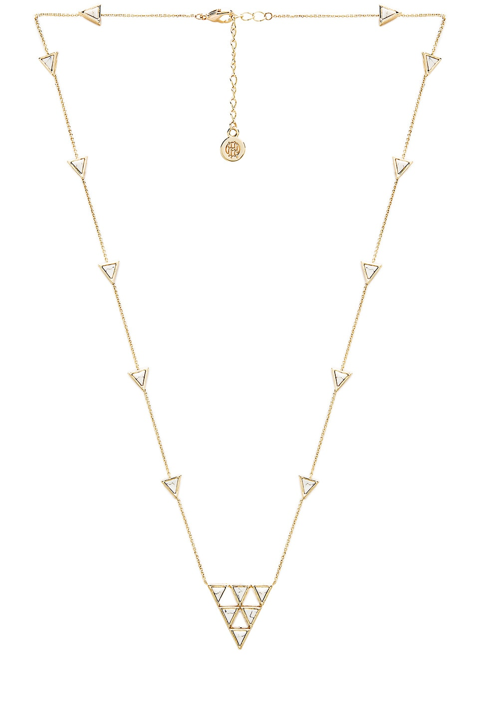 House of Harlow 1960 House of Harlow Triangle Trellis Necklace in Gold