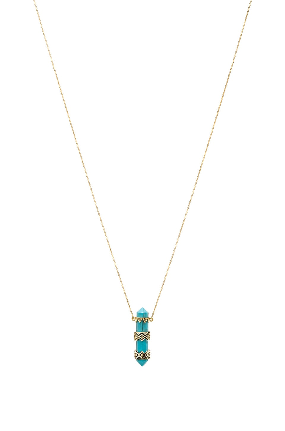 House of Harlow 1960 House of Harlow Prana Pendant Necklace in Turquoise