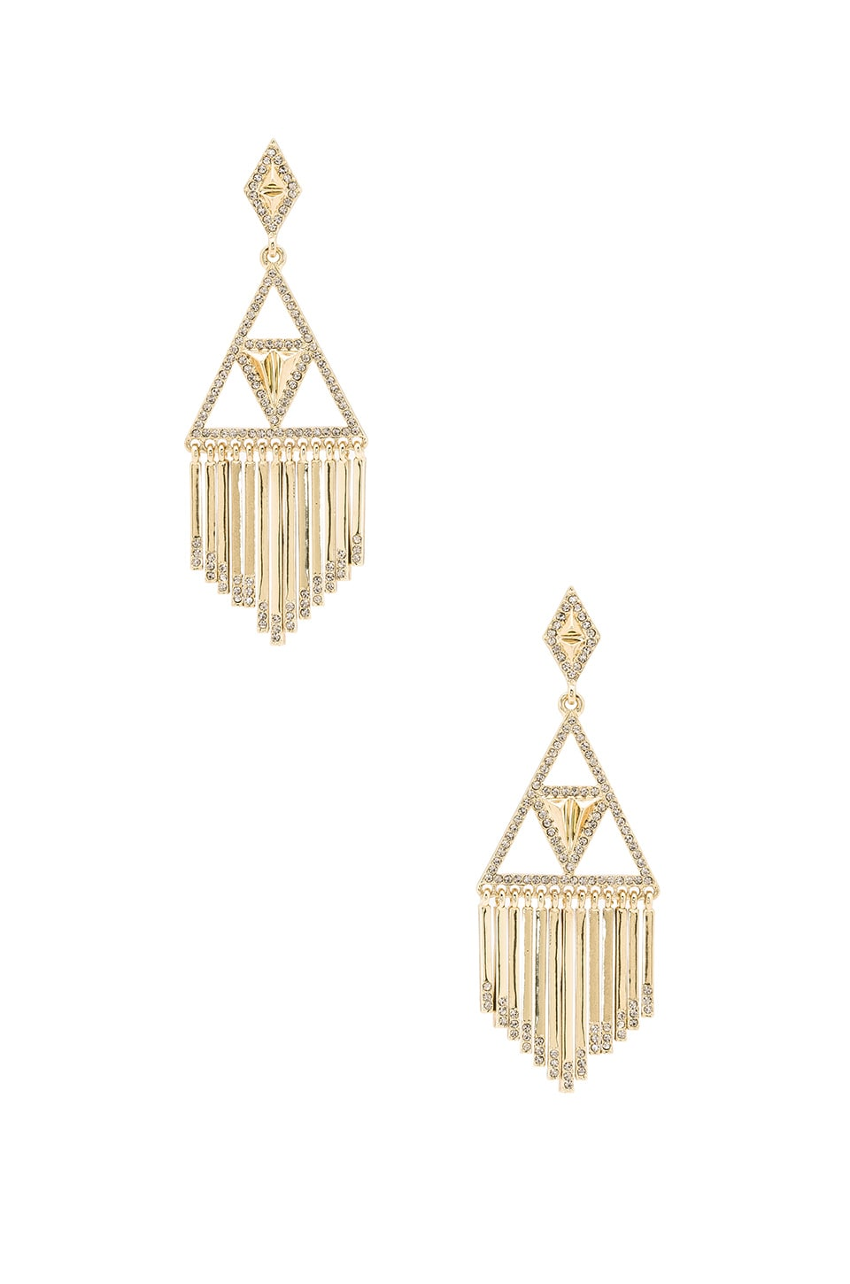 House of Harlow 1960 Golden Hour Fringe Earring in Gold