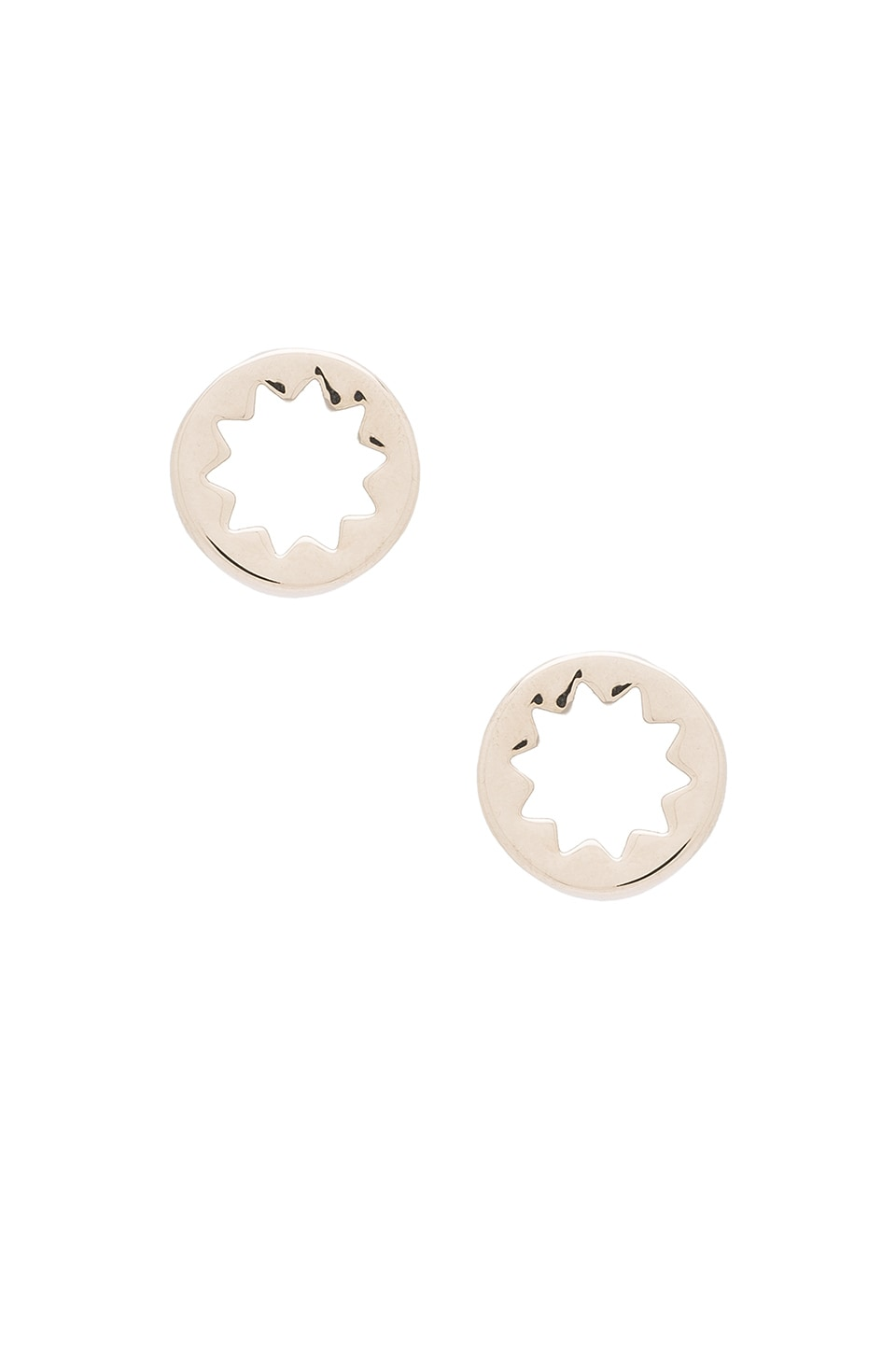 House of Harlow 1960 Sunburst Stud Earrings in Silver