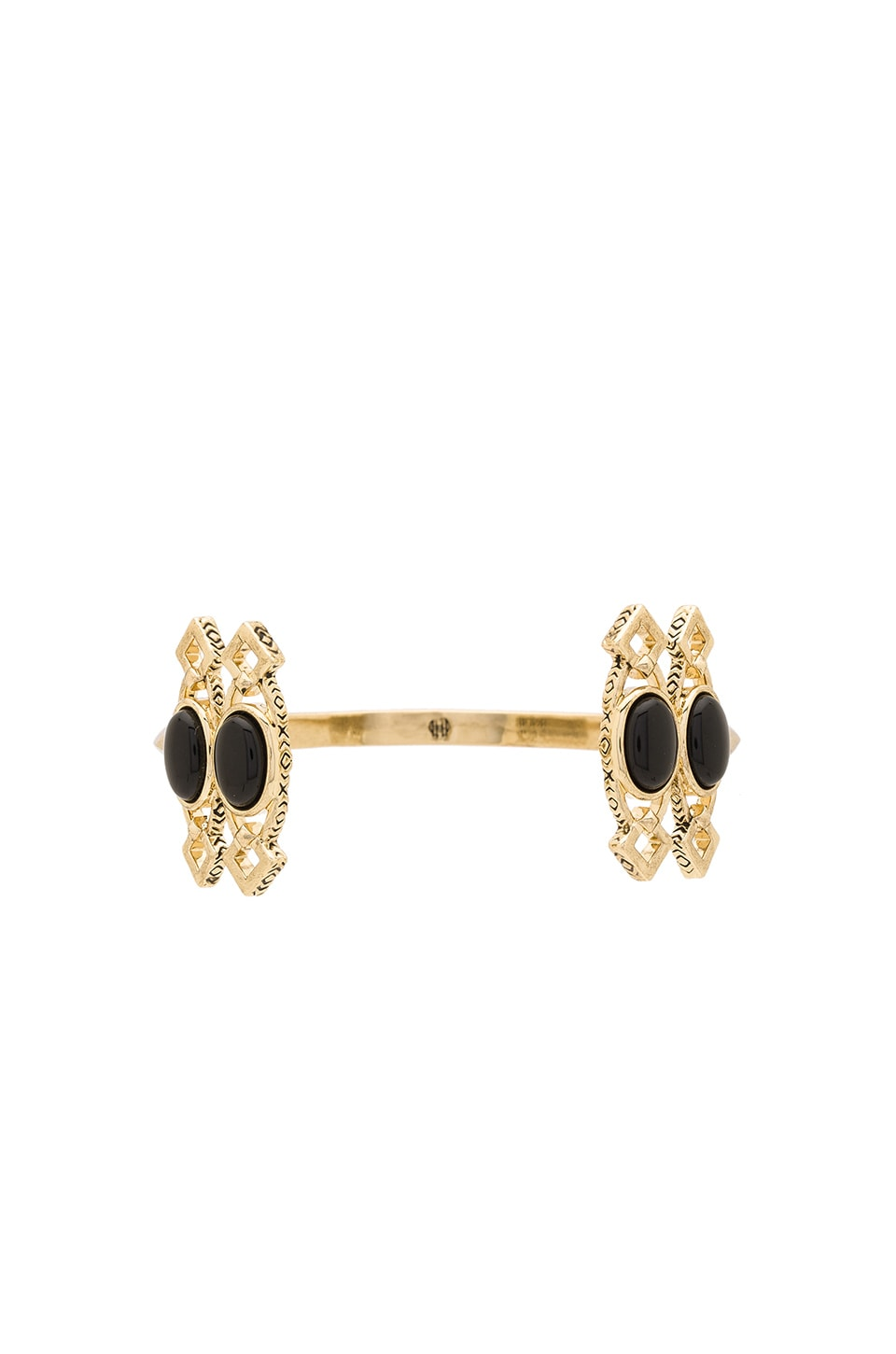House of Harlow 1960 House of Harlow Lady Of Grace Cuff in Gold & Black