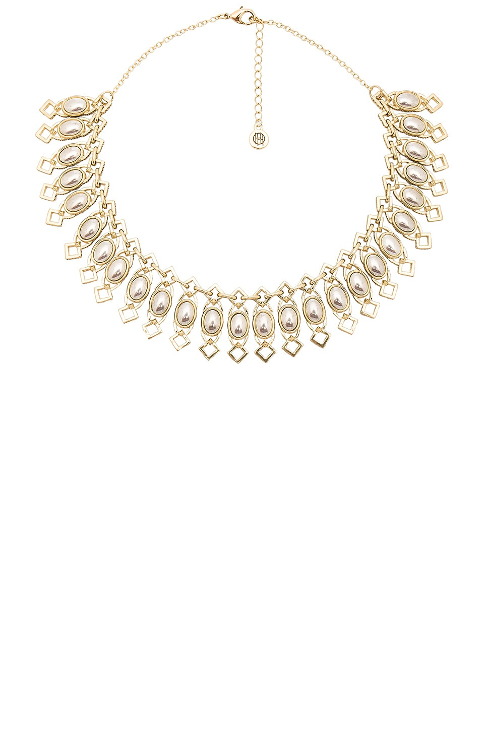 House of Harlow 1960 Lady of Grace Collar Necklace in Gold & Silver