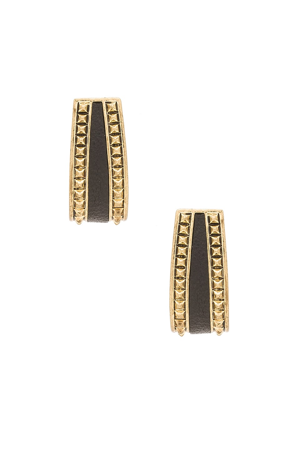 House of Harlow 1960 Helicon Statement Earrings in Gold & Black