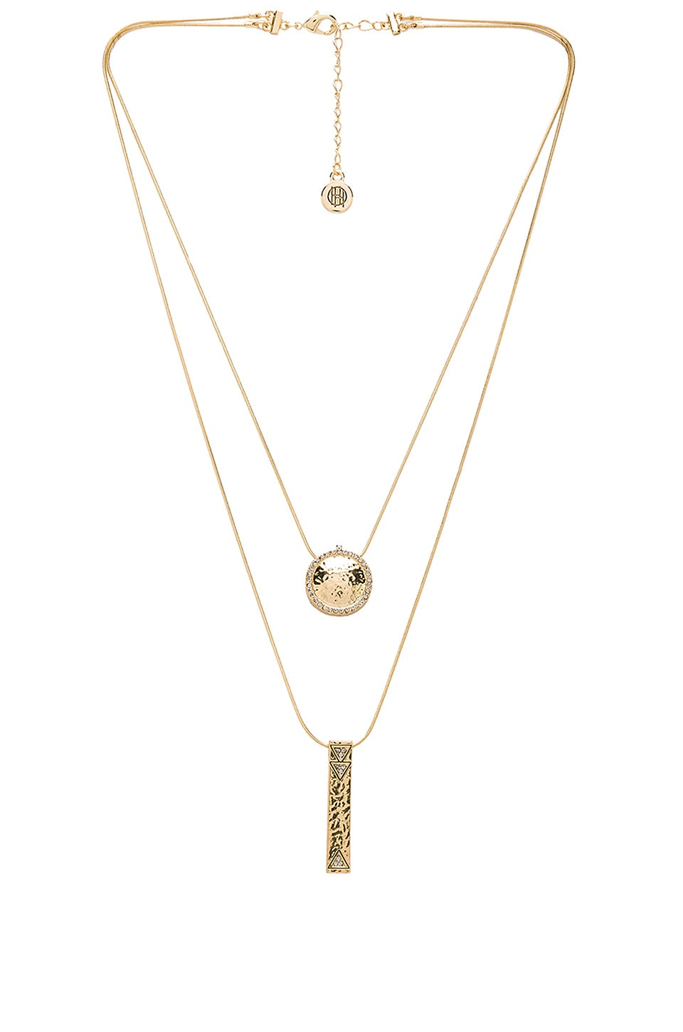 House of Harlow 1960 Scutum Double Pendant Necklace in Gold