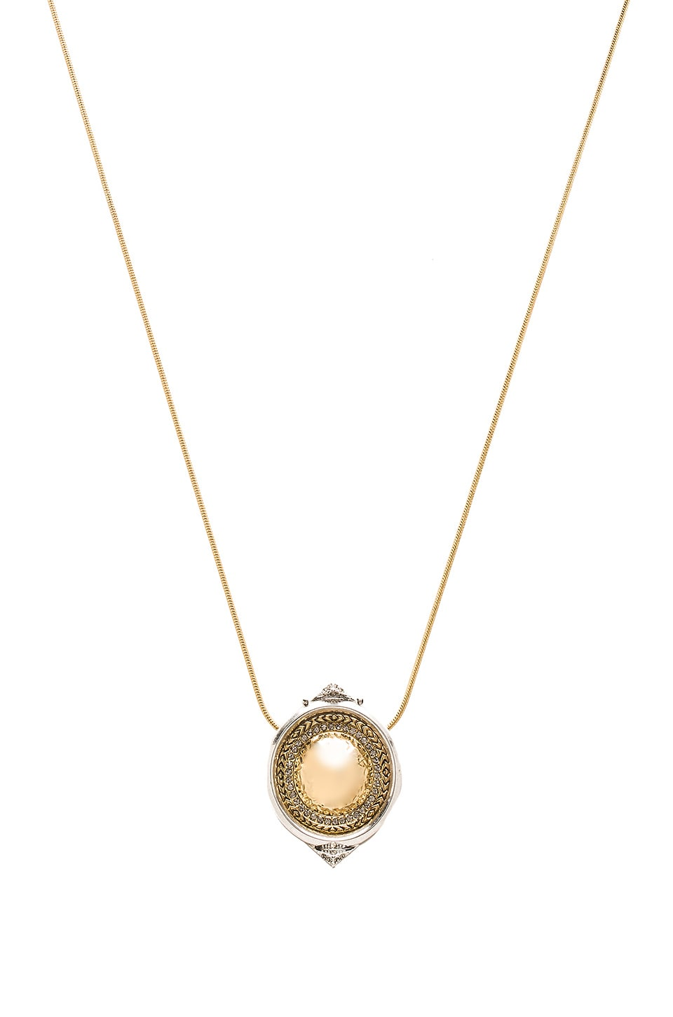 House of Harlow 1960 Scutum Pendent Necklace in Gold & Silver