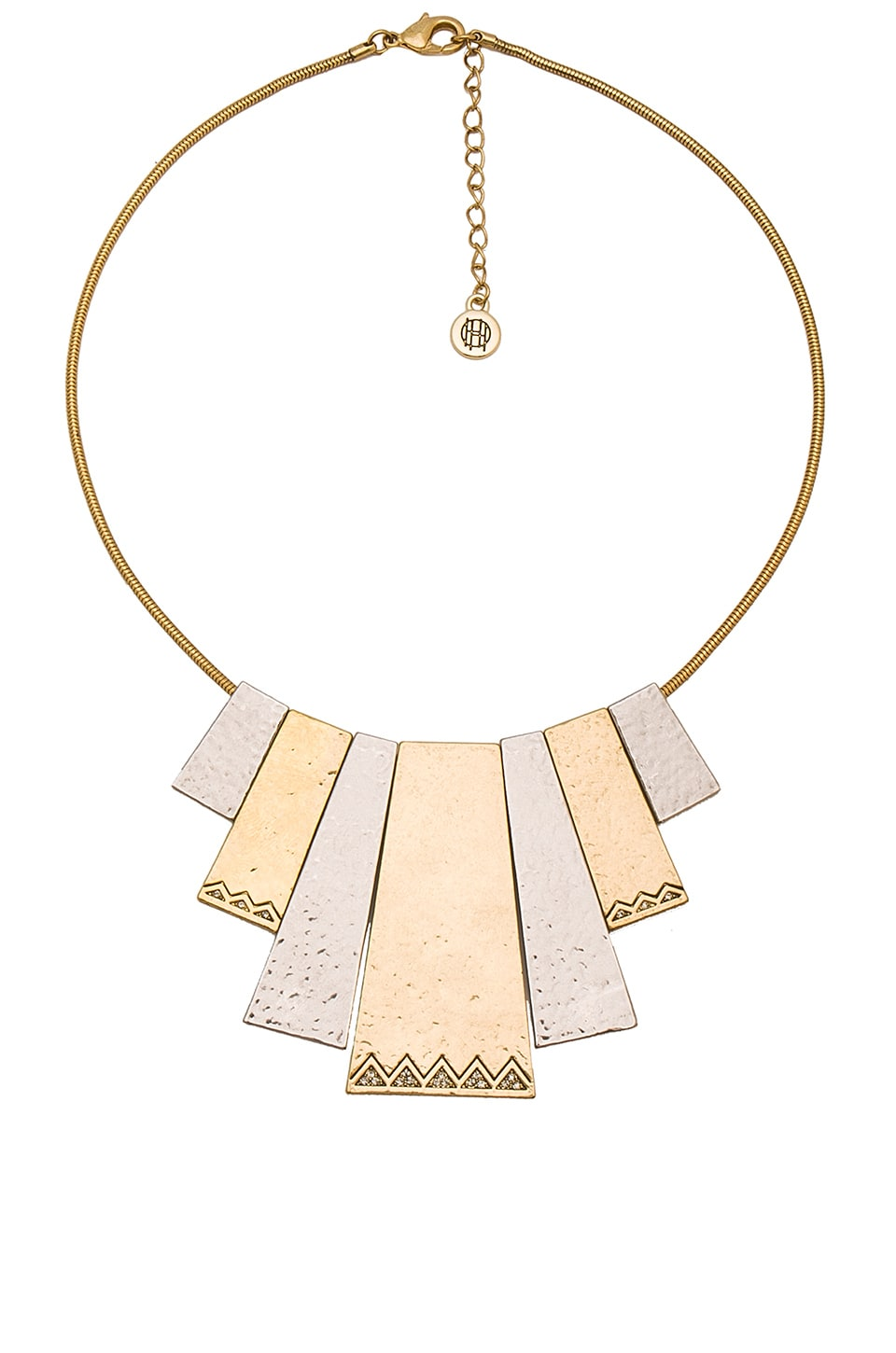 House of Harlow 1960 Scutum Statement Necklace in Gold & Silver