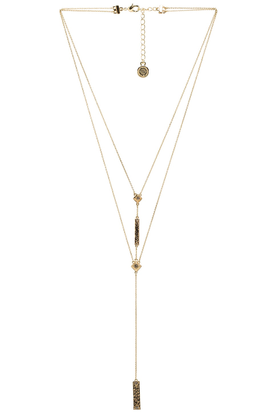 House of Harlow 1960 The Lyra Double Y Necklace in Gold