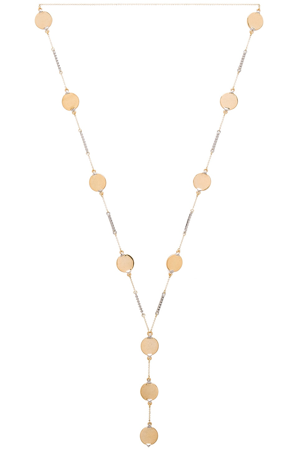 House of Harlow 1960 Nuri Y Necklace in Gold & Silver