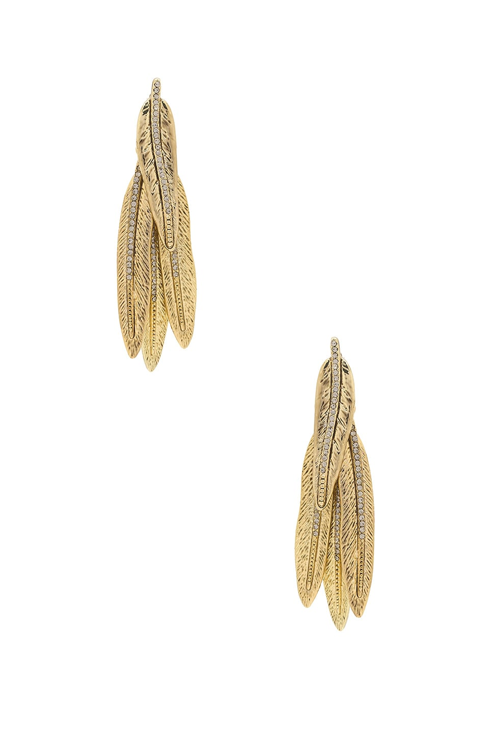 House of Harlow 1960 Cedro Dangle Earrings in Gold