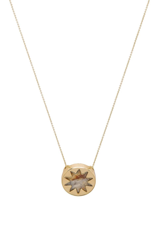 Mini Sunburst Pendant Necklace by House Of Harlow 1960