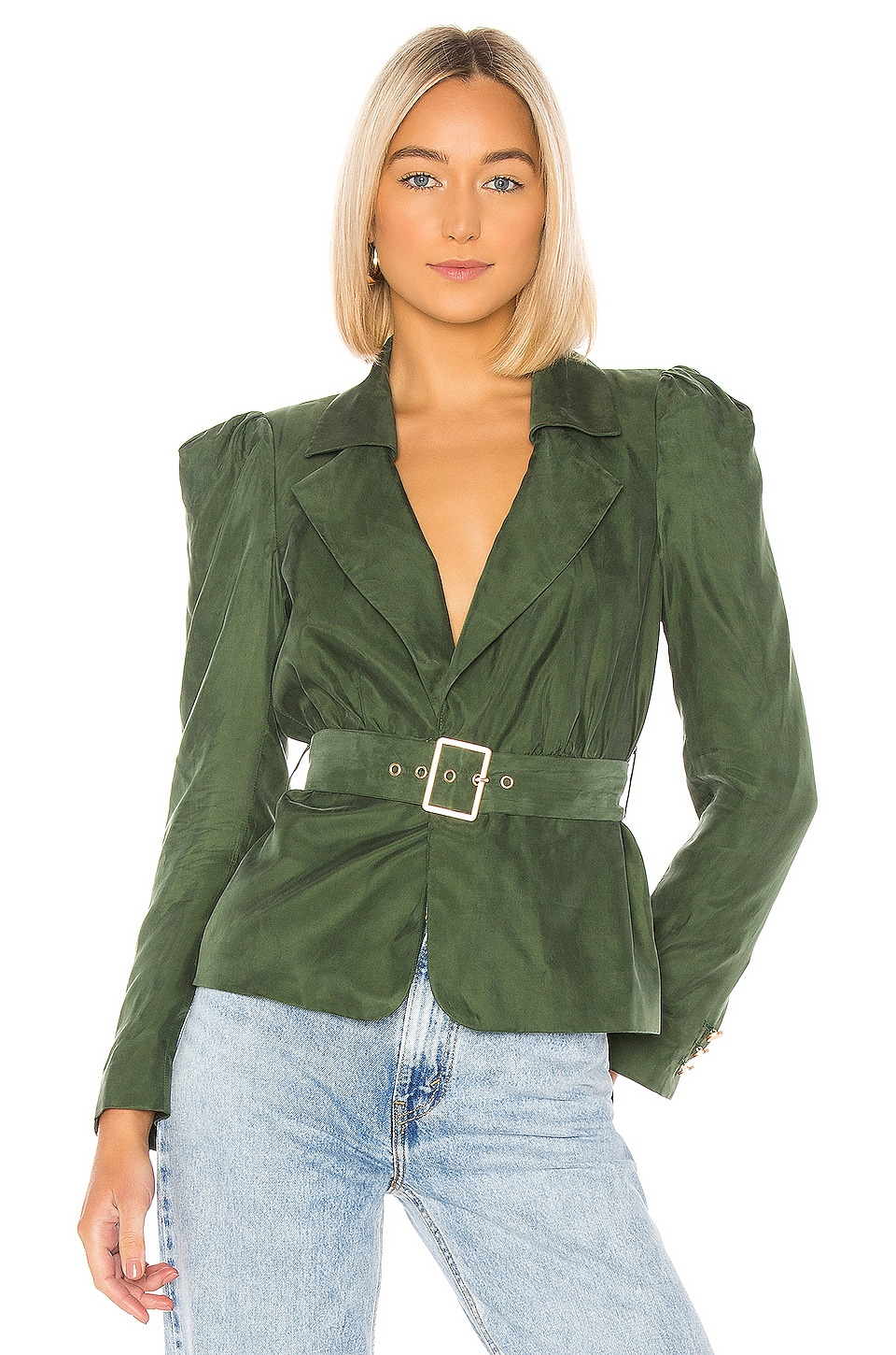 House of Harlow 1960 X REVOLVE Fernanda Jacket in Green