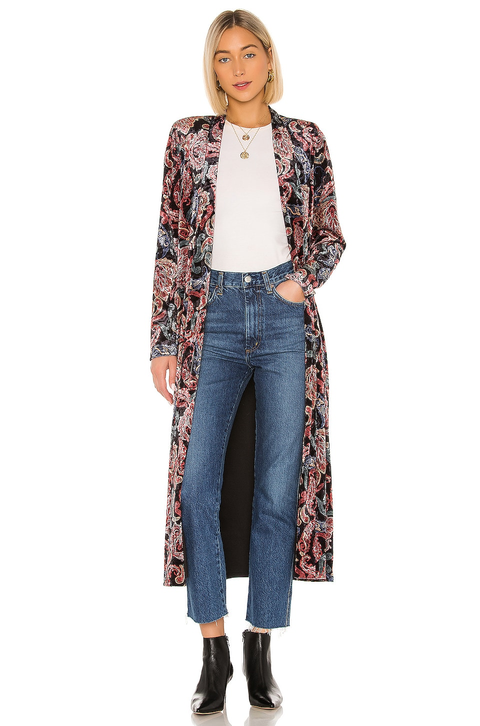 House of Harlow 1960 X REVOLVE Jodie Collared Jacket in Noir Paisley