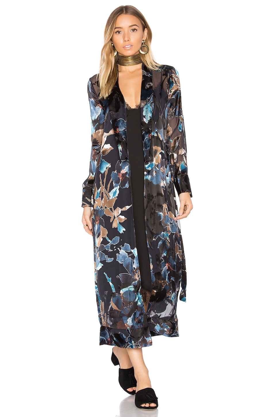 House of Harlow 1960 x REVOLVE Yoselin Maxi Bed Jacket in Painted Floral