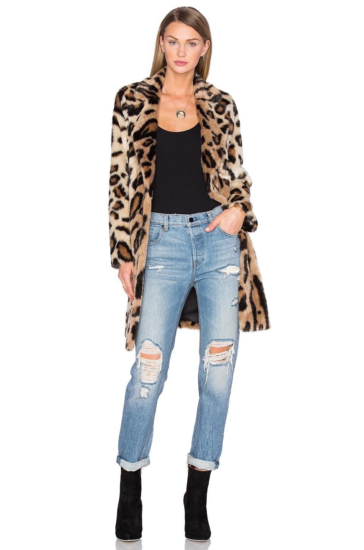 House of Harlow 1960 x REVOLVE Genn Faux Fur Coat in Leopard