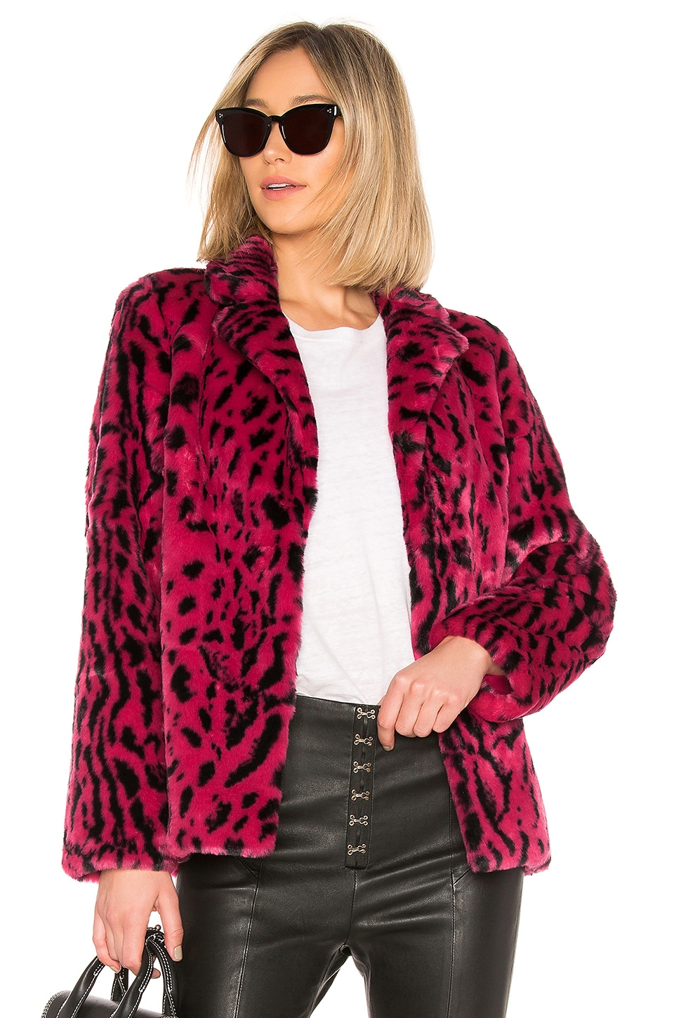 x REVOLVE Virginia Faux Fur Coat