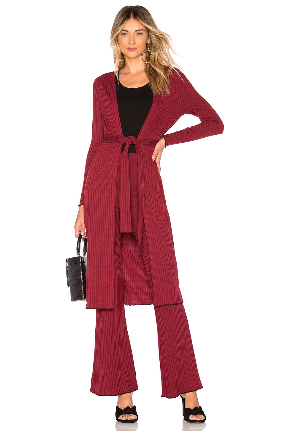 House of Harlow 1960 x REVOLVE James Cardigan in Maroon