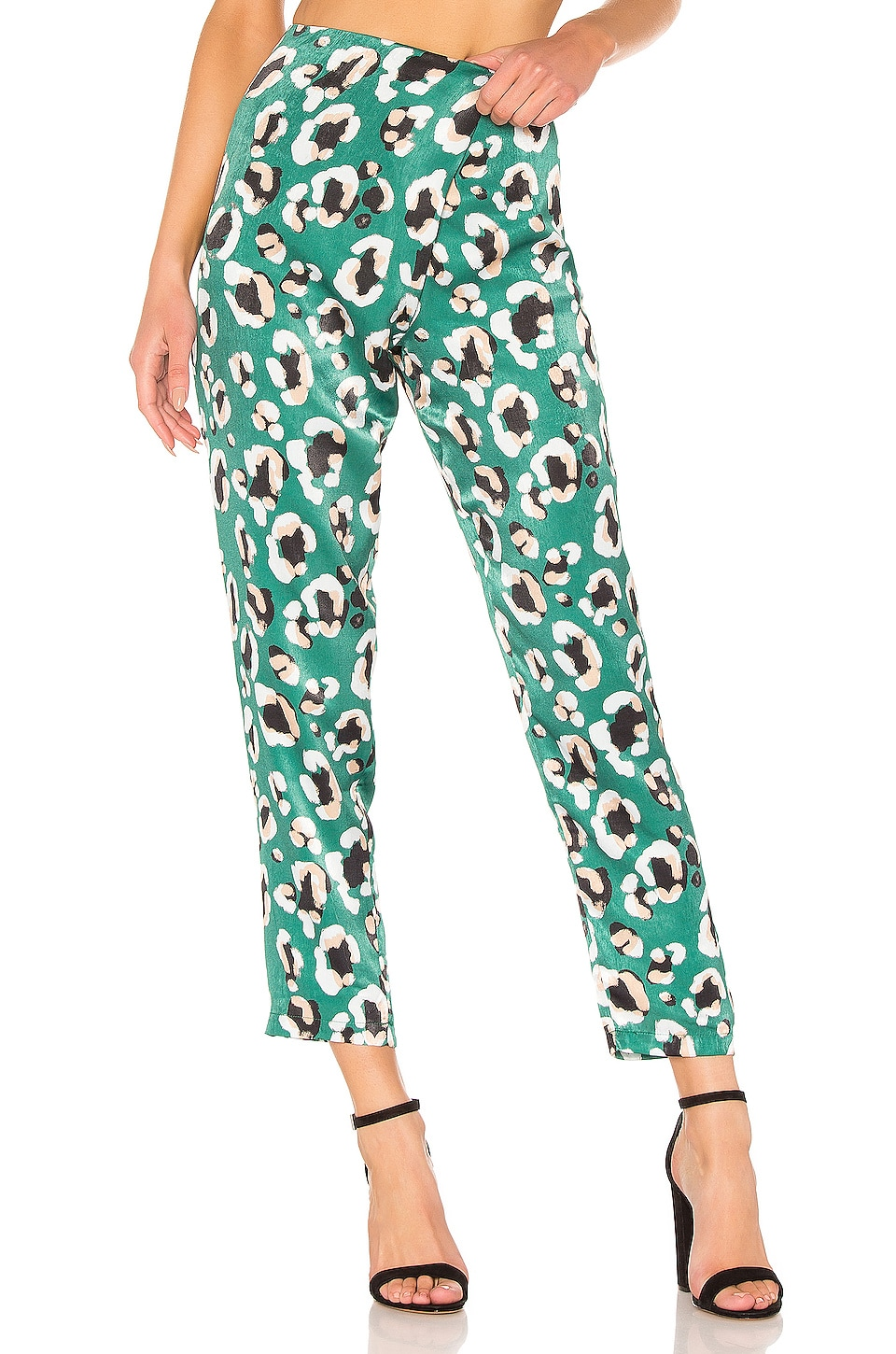 House of Harlow 1960 x REVOLVE Odel Pant in Green Leopard