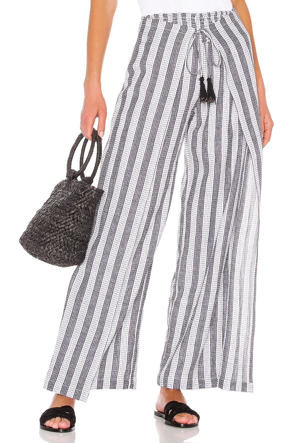 House of Harlow 1960 X REVOLVE Idrissa Pant in White & Black Stripe