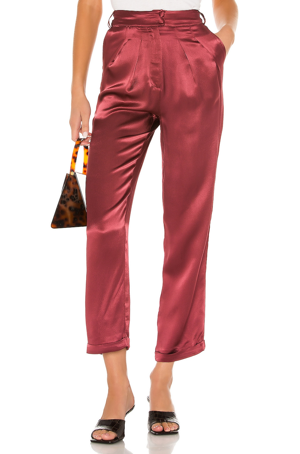 House of Harlow 1960 x REVOLVE Cisco Pant in Currant