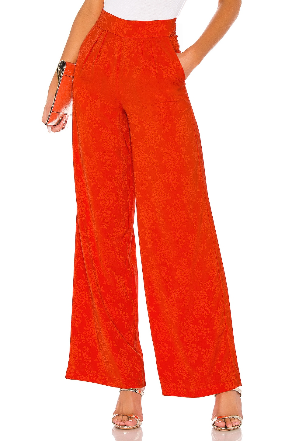 House of Harlow 1960 X REVOLVE Charlie Wide Leg Pants in Orange