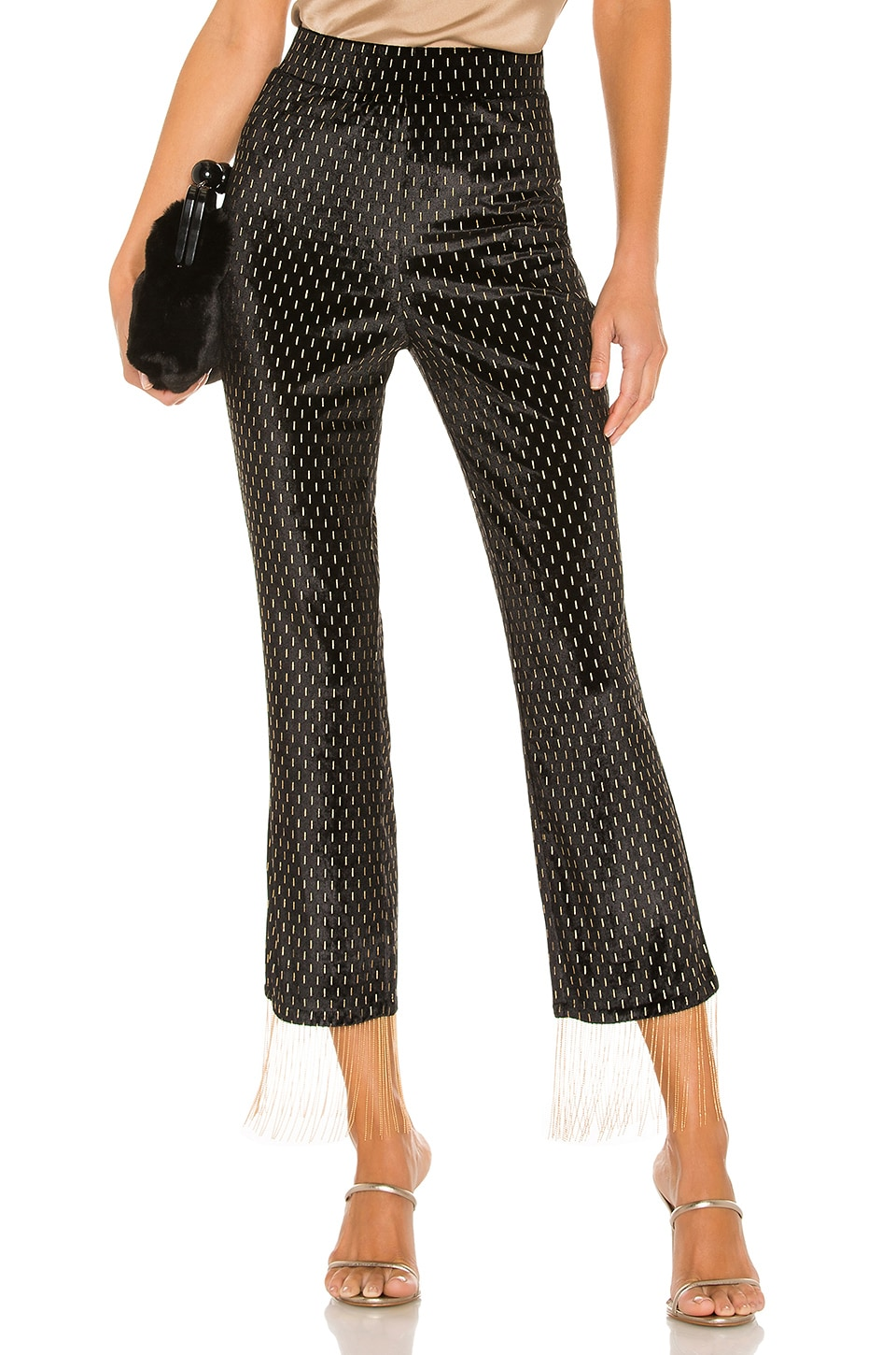 House of Harlow 1960 x REVOLVE Catina Pant in Noir & Gold