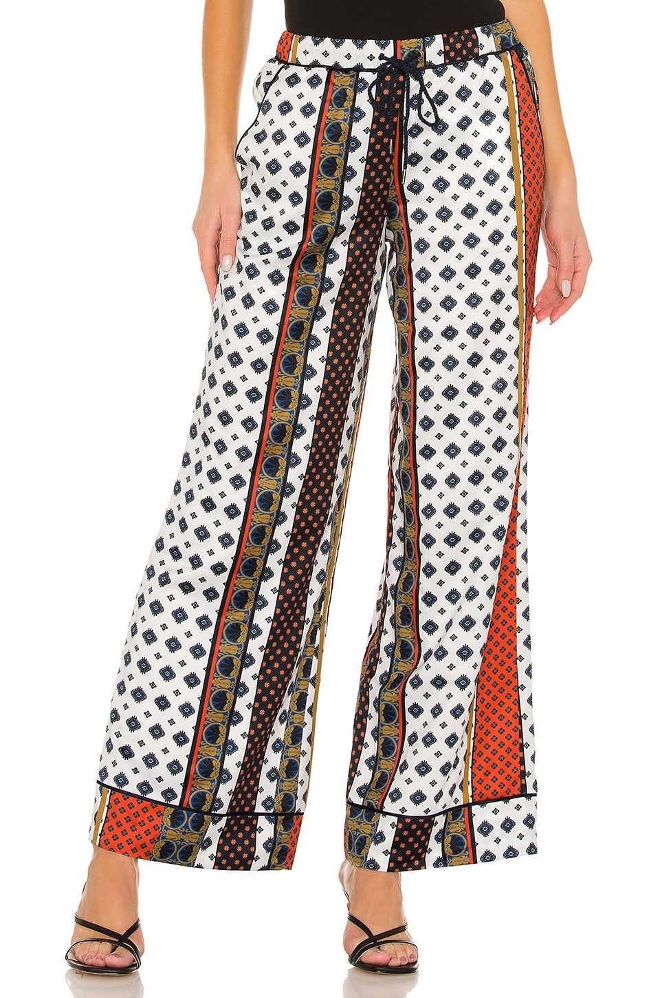 House of Harlow 1960 x REVOLVE Joni Pant in Ivory Pajama Print