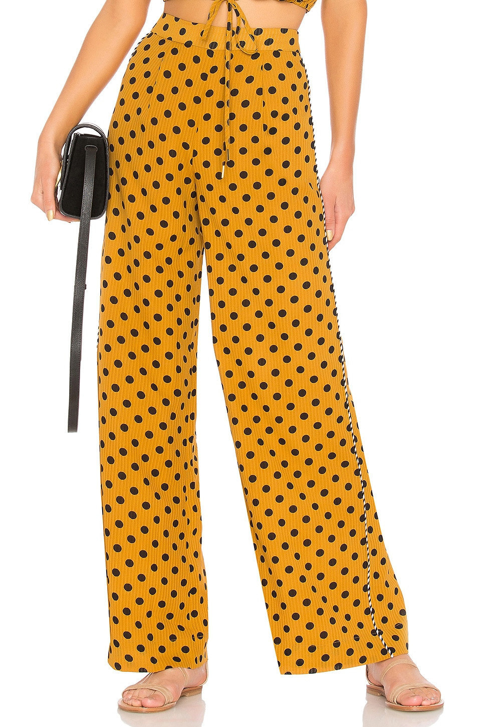 House of Harlow 1960 x REVOLVE Leo Pant in Saffron Polka Dot
