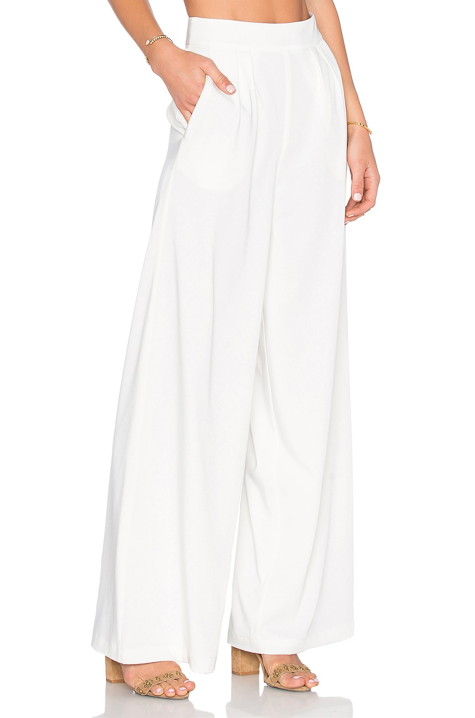 House of Harlow 1960 x REVOLVE Charlie Wide Leg Pant in Ivory ...