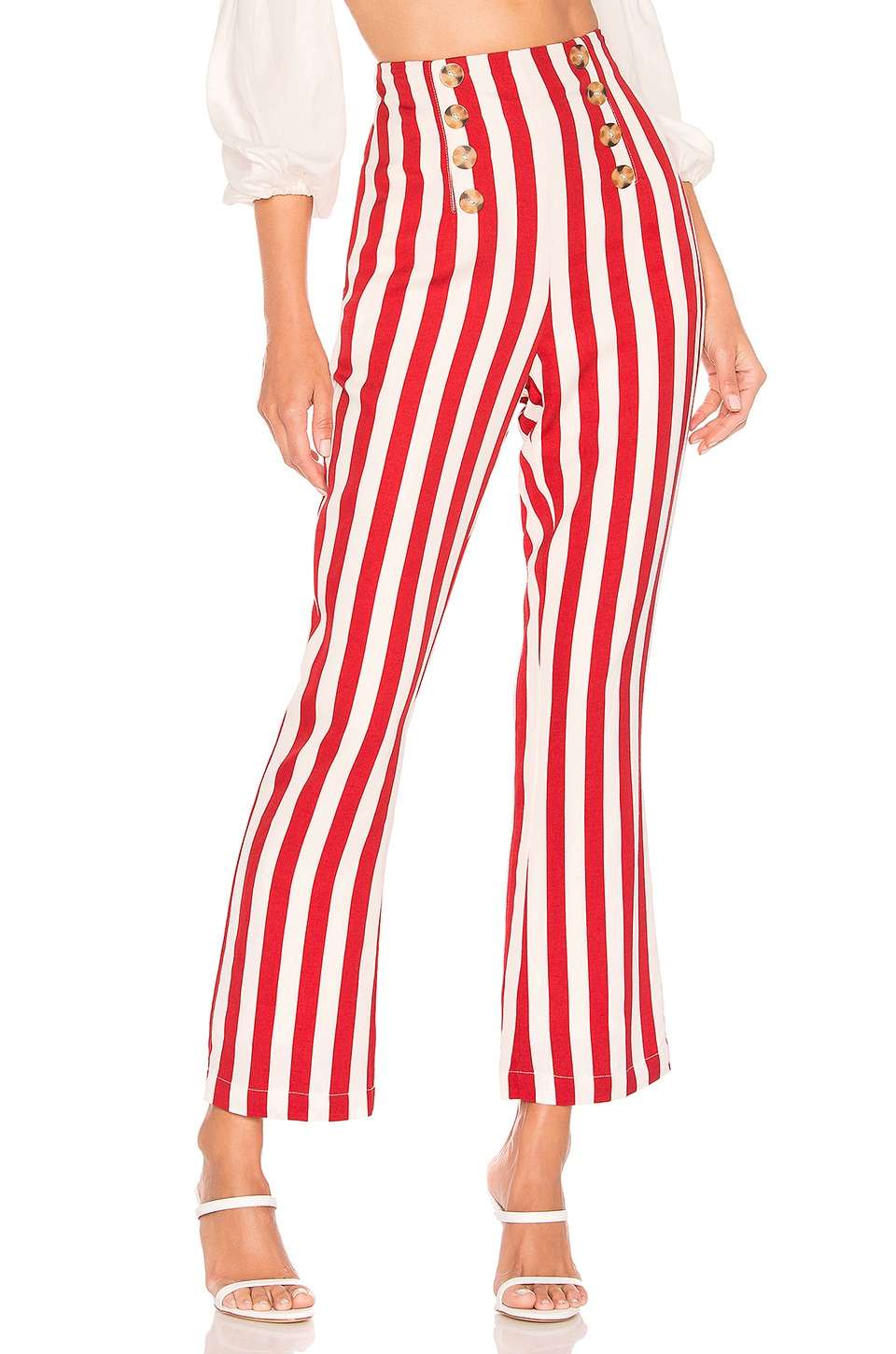 House of Harlow 1960 X REVOLVE Morris Pant in Red & White Stripe