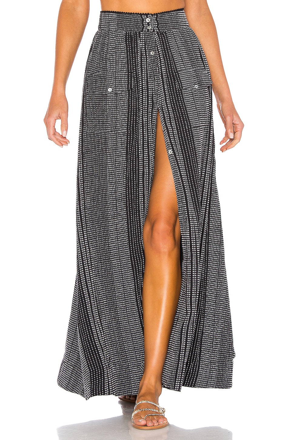 House of Harlow 1960 X REVOLVE Jonah Skirt in Black & White Stripe