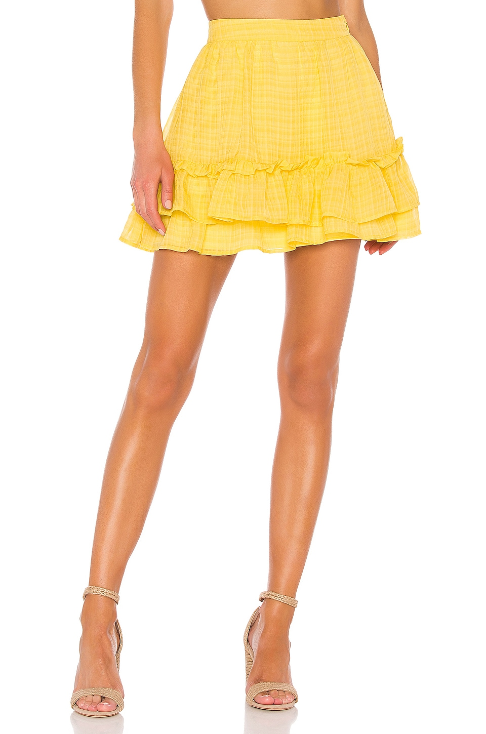 House of Harlow 1960 X REVOLVE Soledad Mini Skirt in Yellow