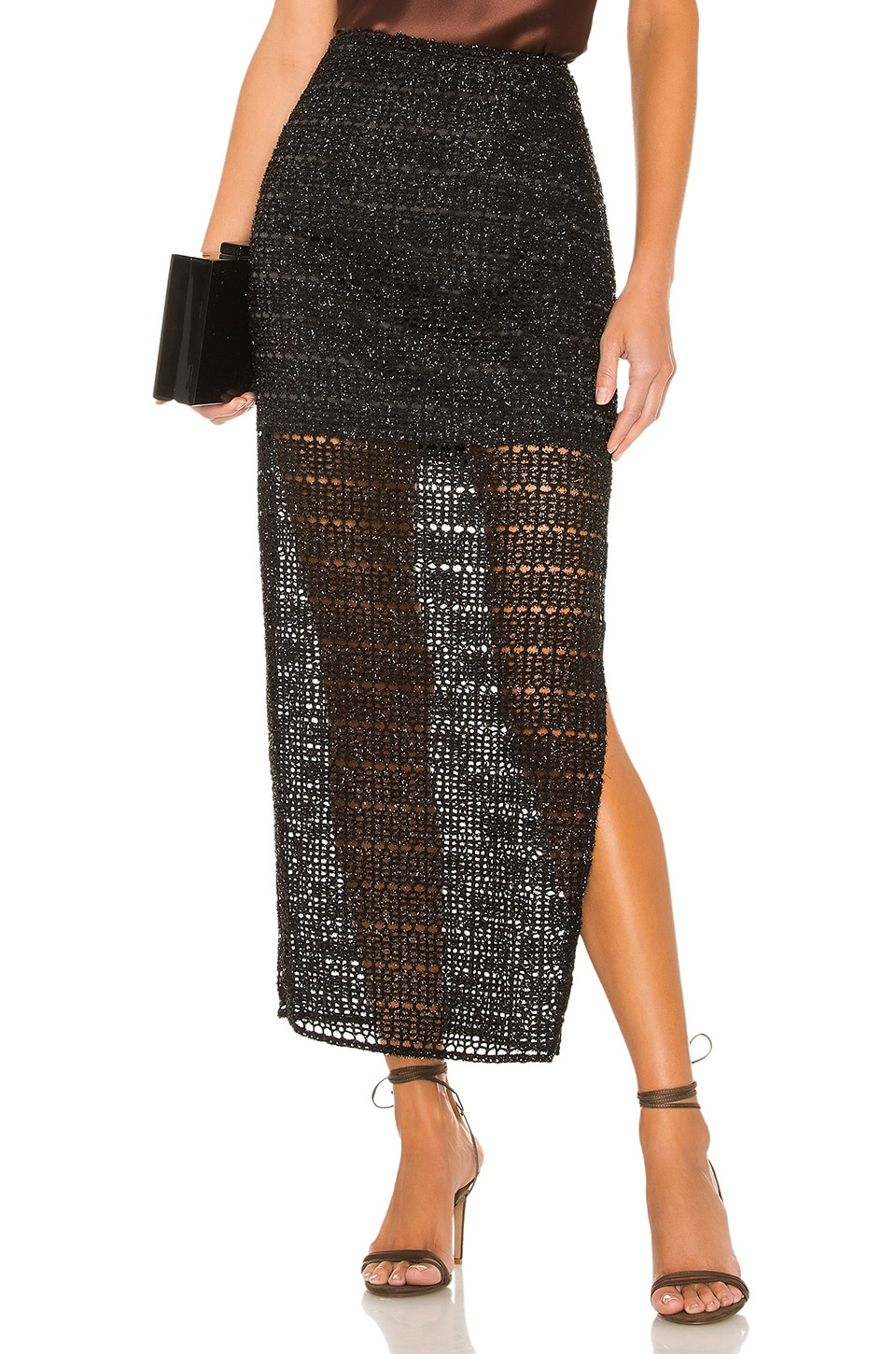 House of Harlow 1960 x REVOLVE Meera Midi Skirt in Noir