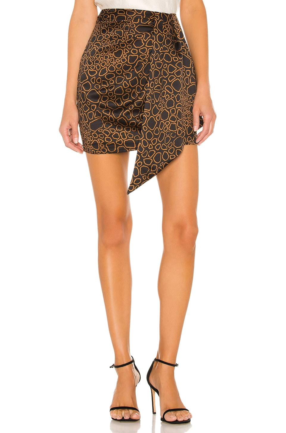 House of Harlow 1960 x REVOLVE Daria Skirt in Noir Abstract